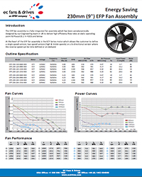 EFP-230 Fan Pack - Datasheet